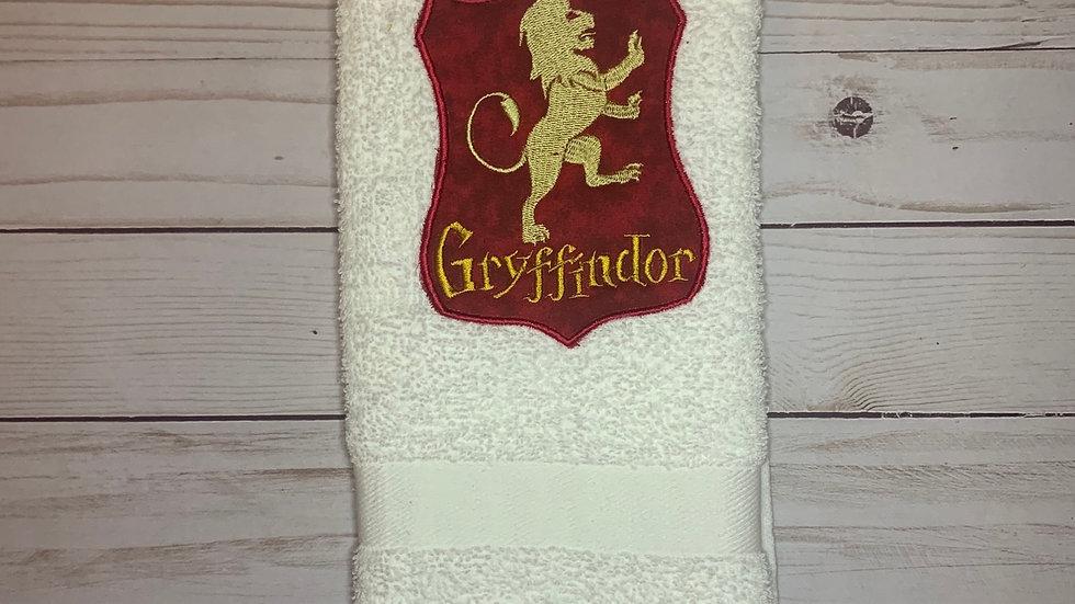 Gryffindor Crest towels, makeup bag, tote