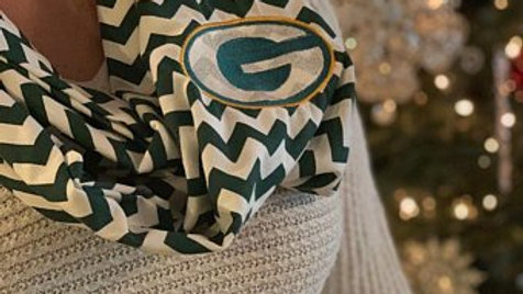 Green Bay Packers Embroidered Infinity Scarf