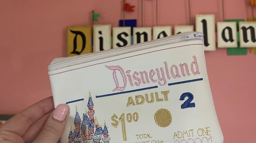 Disneyland Embroidered Zipper Pouch