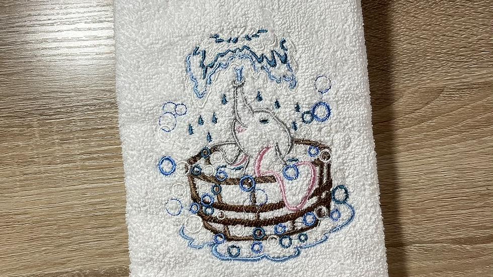 Baby Dumbo towels, makeup bag, tote