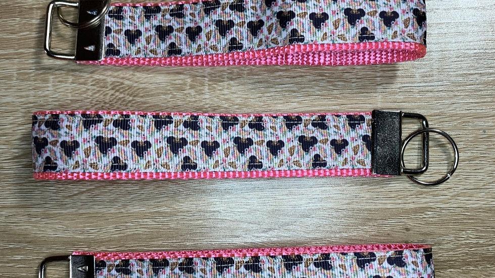 Princess Minnie keychain wristlet
