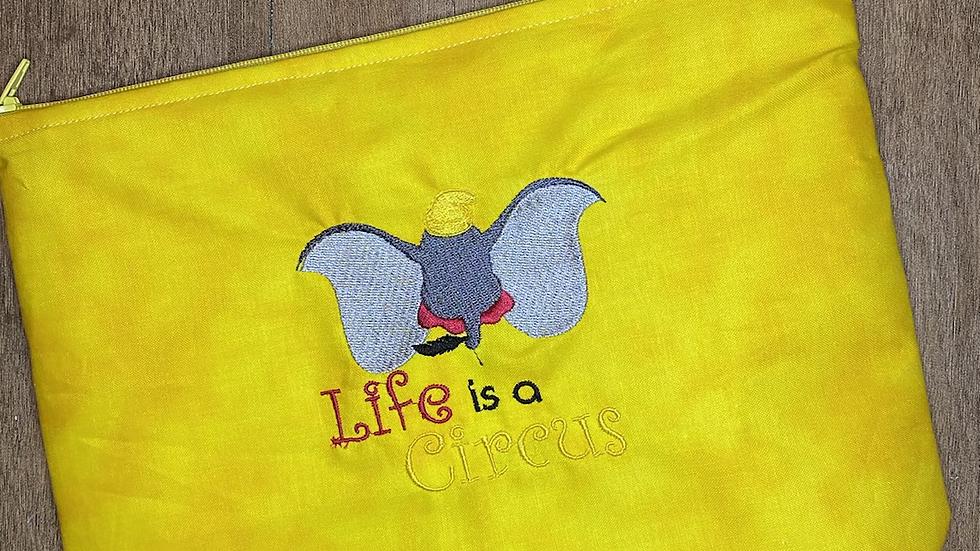 Life is a Circus - Dumbo towels, makeup bag, tote
