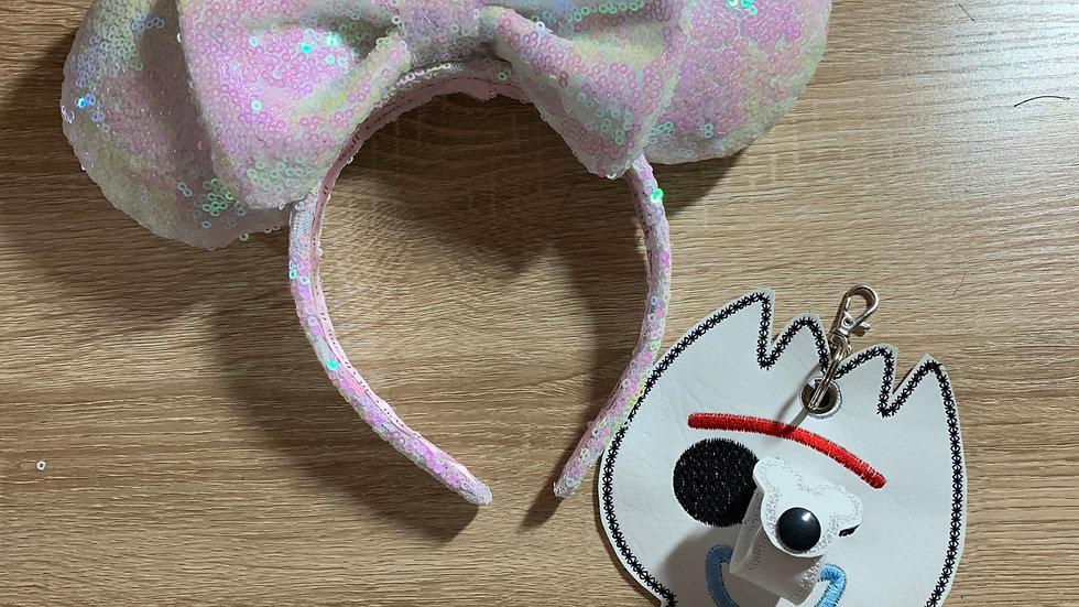Forky ear/hat holder keychain