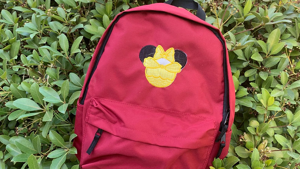 Belle Mouse embroidered backpack