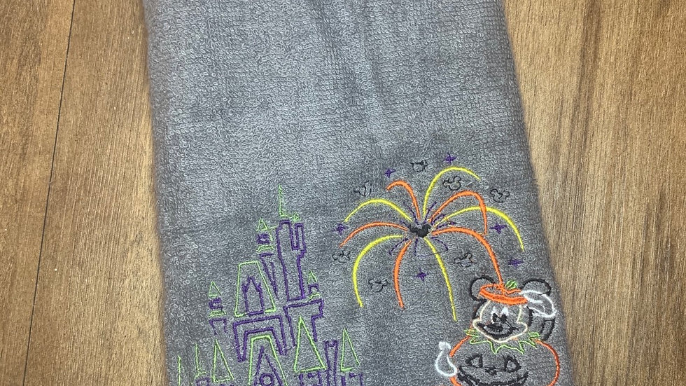 Mickeys Not So Scary towels, makeup bag, tote