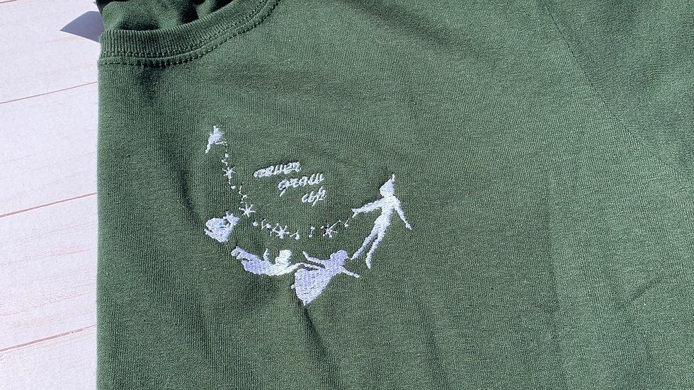 Never Grow Up Peter Pan embroidered t-shirt or tank top