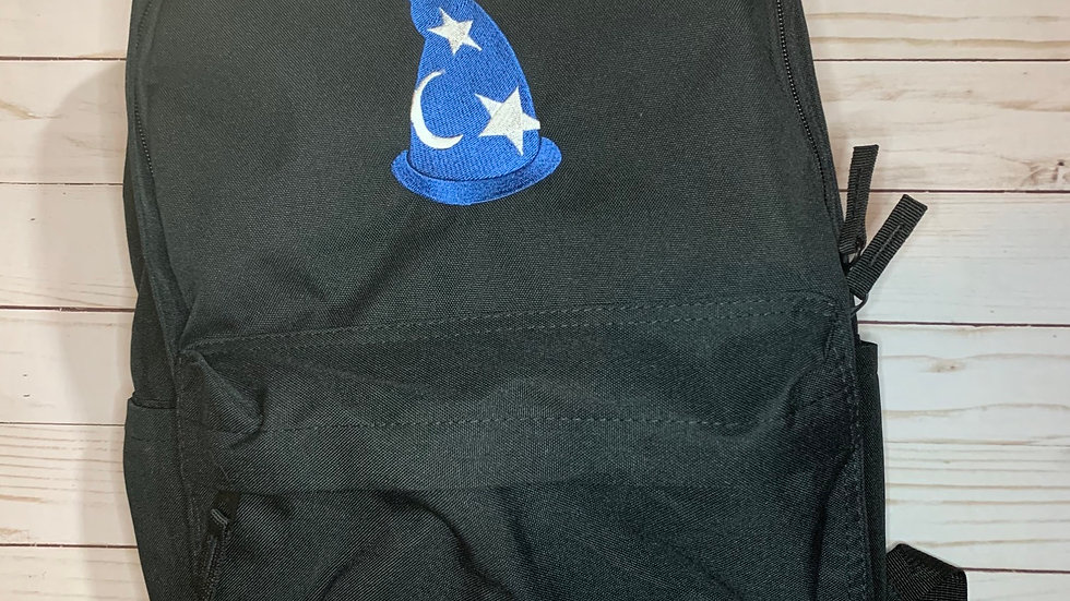 Sorcerer Mickey Hat embroidered backpack