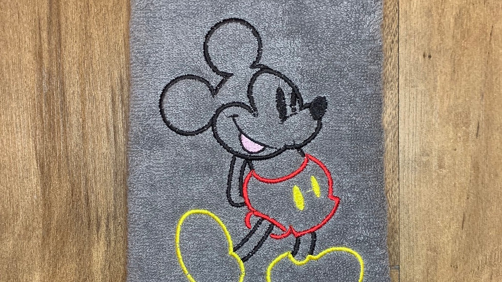 Mickey Mouse towels, makeup bag, tote