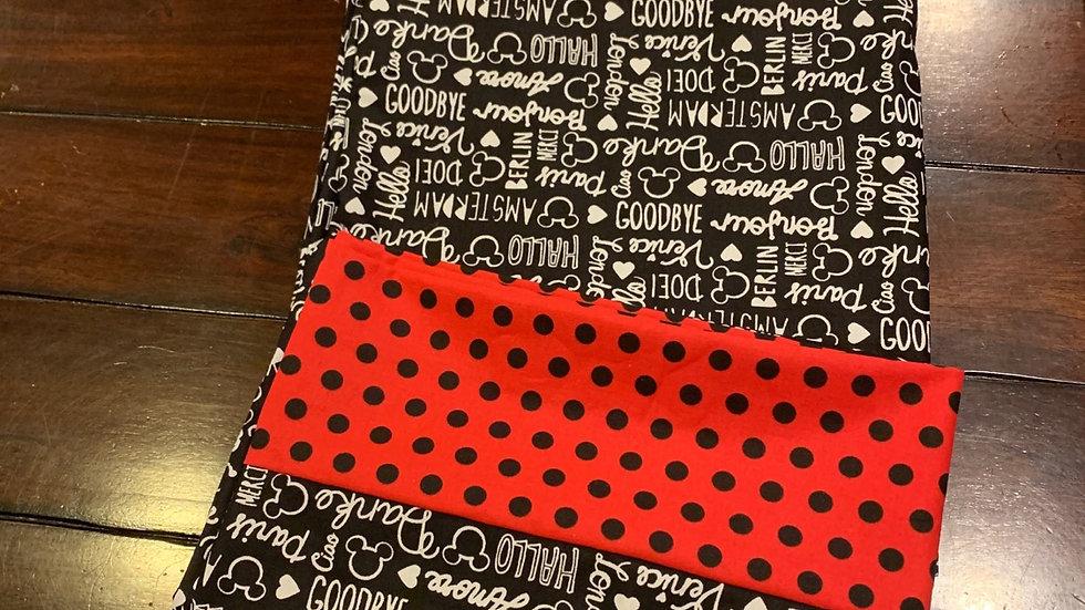 Mouse talk standard pillowcase set - Free name embroidery