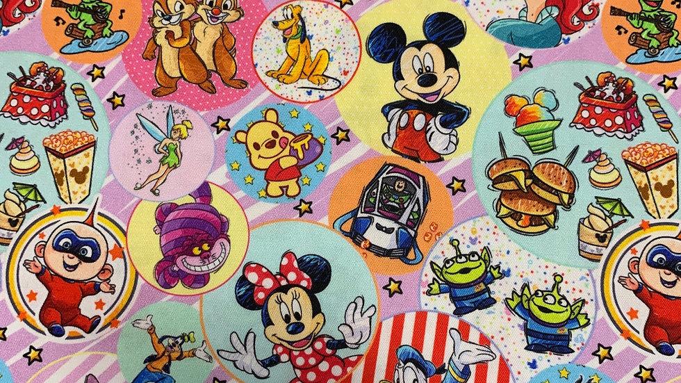 Disney Bubble Icons boxy bag or makeup bag
