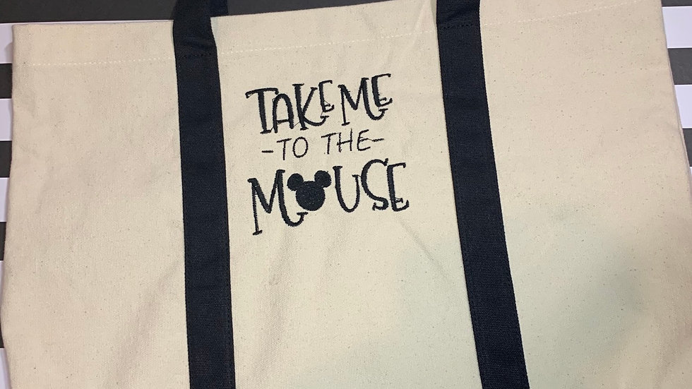 Take me to the mouse pocket tote