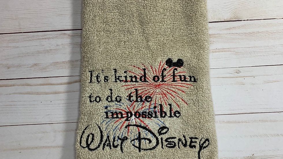 It's Kinda fun to do the Impossible towels, makeup bag, tote bag, bl
