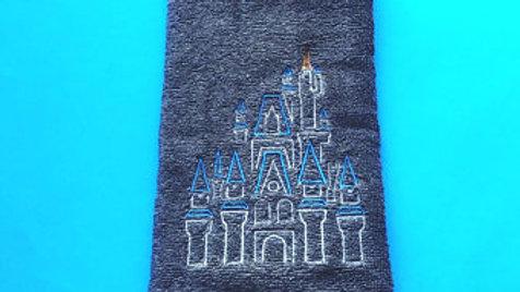 Cinderella Castle Embroidered Towel, blanket, makeup bag, tote bag - Name embroi