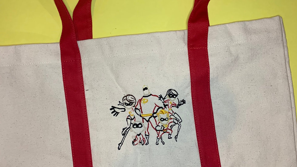 The Incredibles Family pocket tote