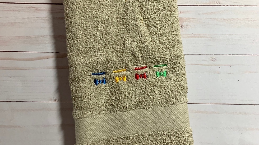 Dapper Dan embroidered towels, blanket, makeup bag