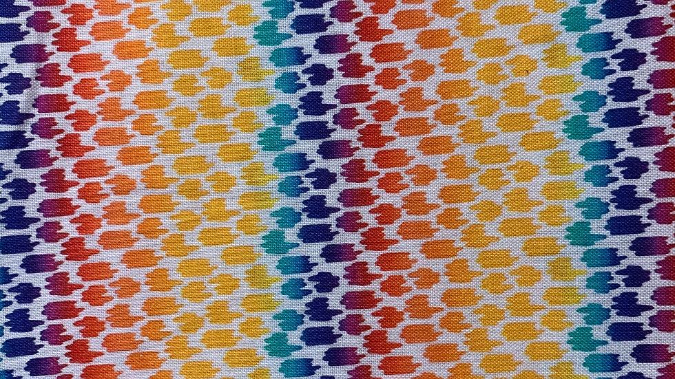 Funky Rainbow boxy bag or makeup bag