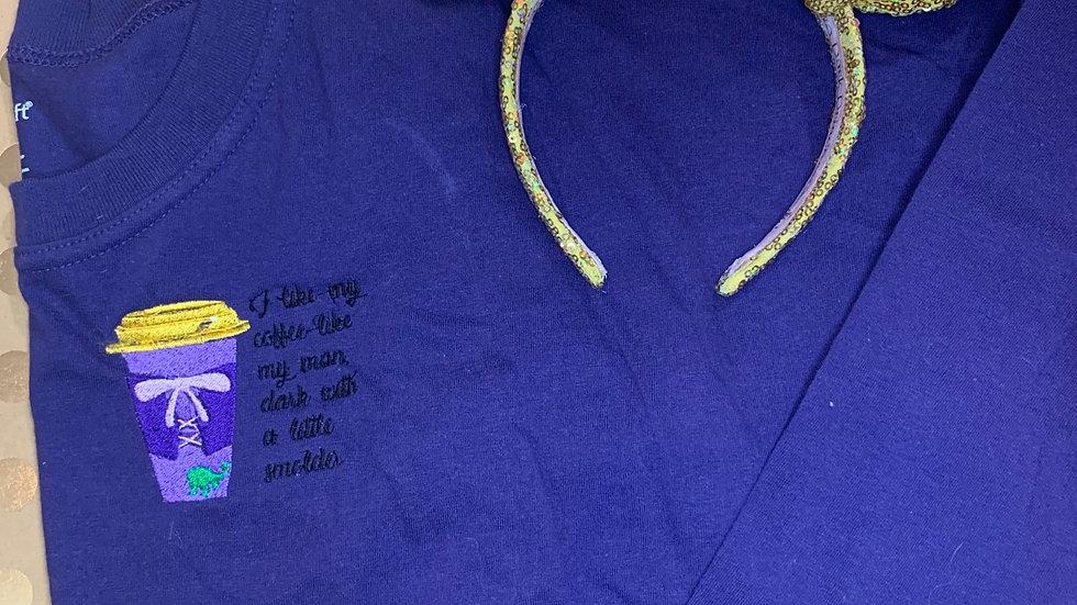 Rapunzel Coffee embroidered spirit jersey