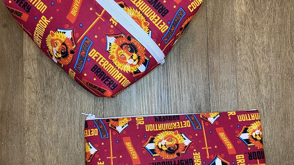 Gryffindor boxy bag or makeup bag
