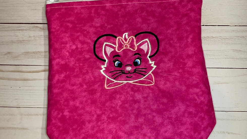 Marie Cat Mouse embroidered towels, blanket, makeup bag