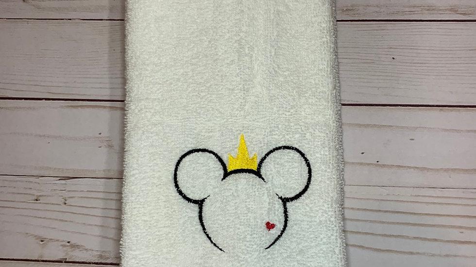 Descendent Mouse embroidered towels, blanket, makeup bag
