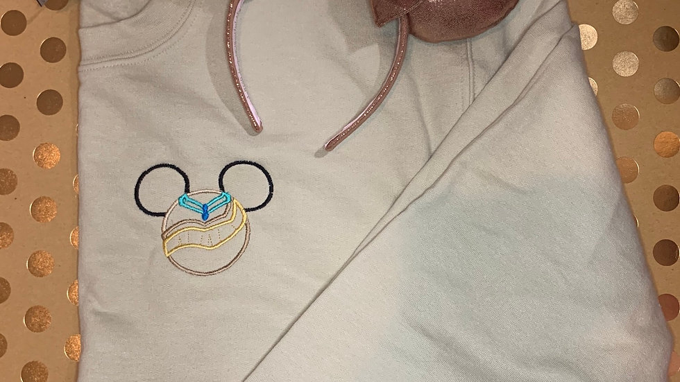 Pocahontas Mouse embroidered hoodie, pullover, 1/4 zip