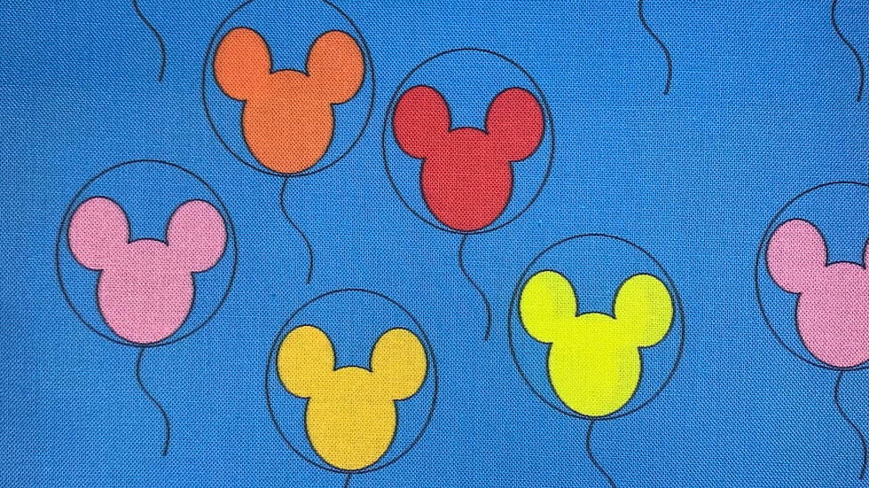 Mickey Balloons boxy bag or makeup bag