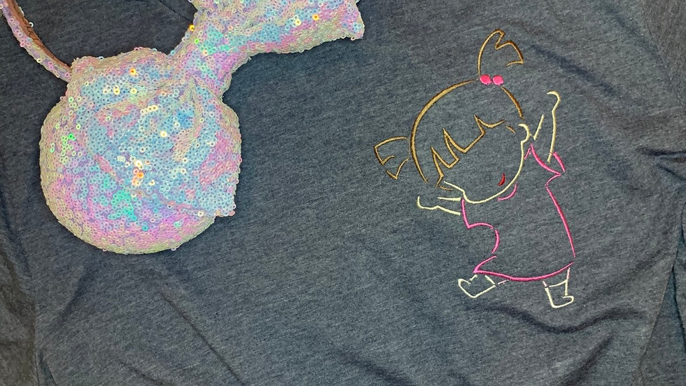 Boo embroidered t-shirt or tank Top