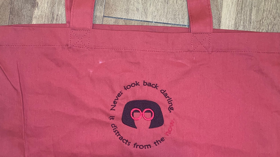 Never Look Back - Edna Mode Large Canvas tote