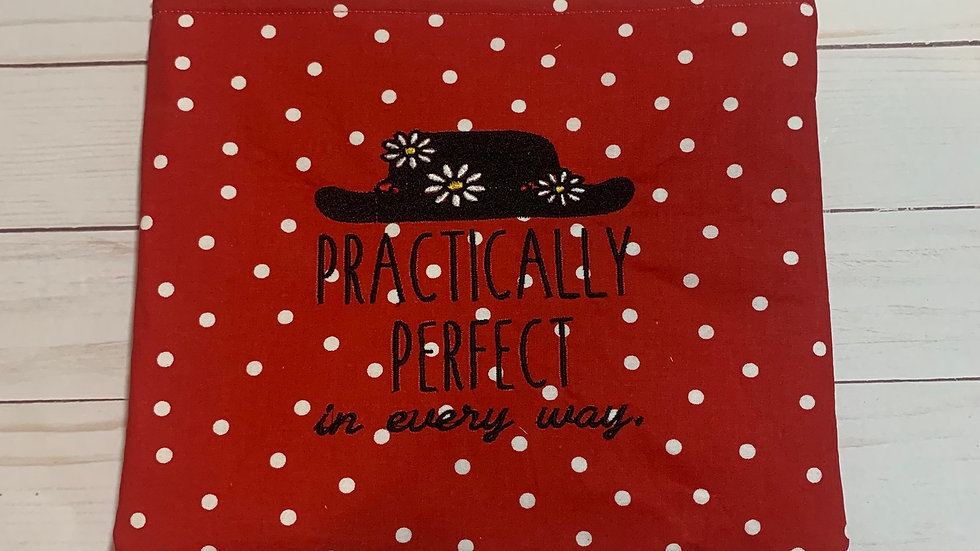 Practically Perfect Mary Poppins embroidered towels, blanket, makeup bag