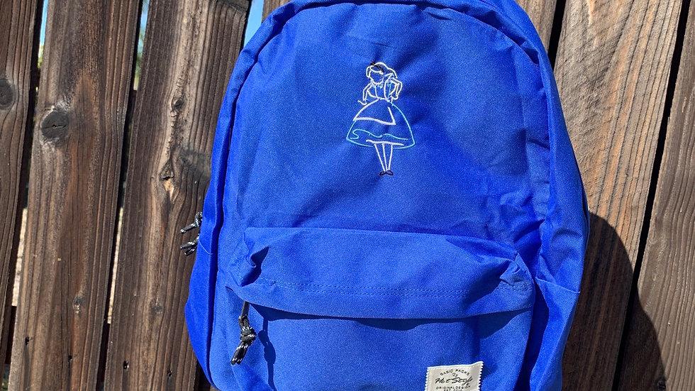 Alice in wonderland embroidered backpack
