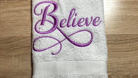 Believe bath towels / hand towels