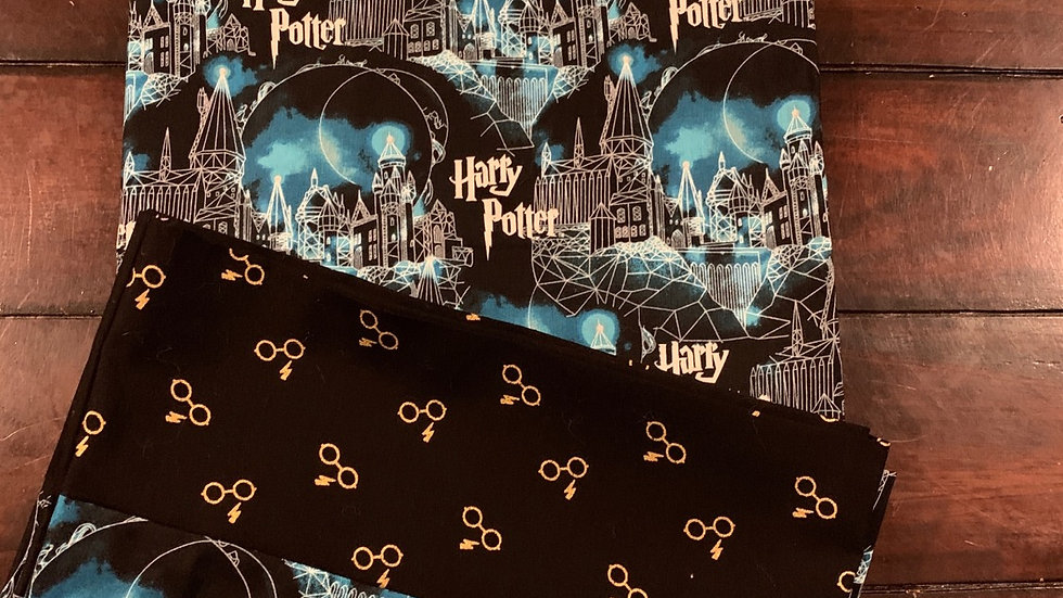 Harry Potter standard pillowcases - Free name embroidery