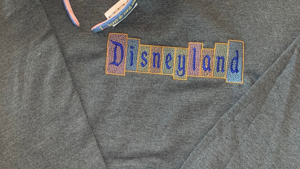 Retro Disneyland Sign embroidered hoodie or pullover