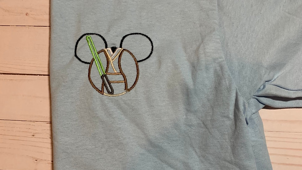 Jedi Mouse embroidered T-Shirt or tank top