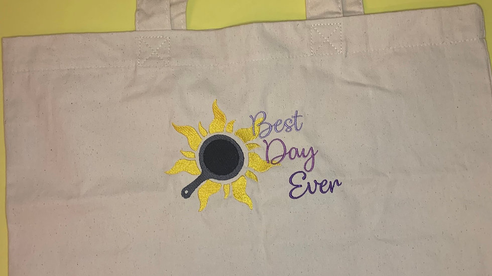 Best Day Ever Large Canvas tote