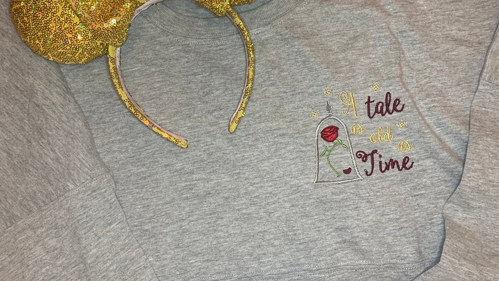 Tale as old as Time embroidered spirit jersey