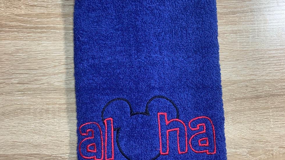 Mickey Aloha towels, makeup bag, tote bag, blank