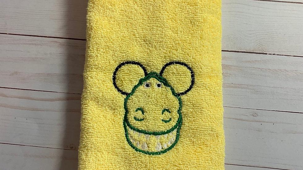 Rex Mouse embroidered towels, blanket, makeup bag
