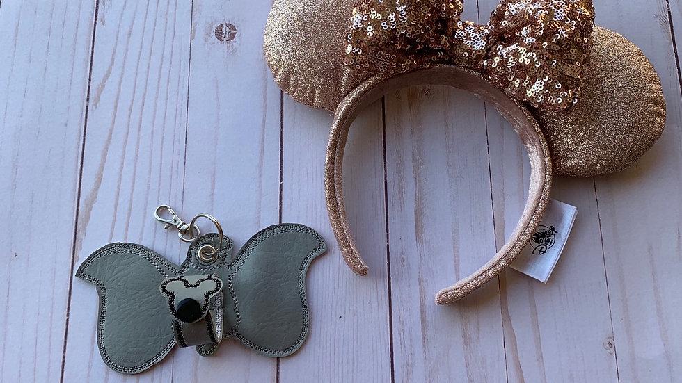 Dumbo elephant hat/ ear holder keychain