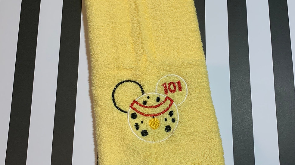 101 Dalmations embroidered towels, blanket, makeup bag