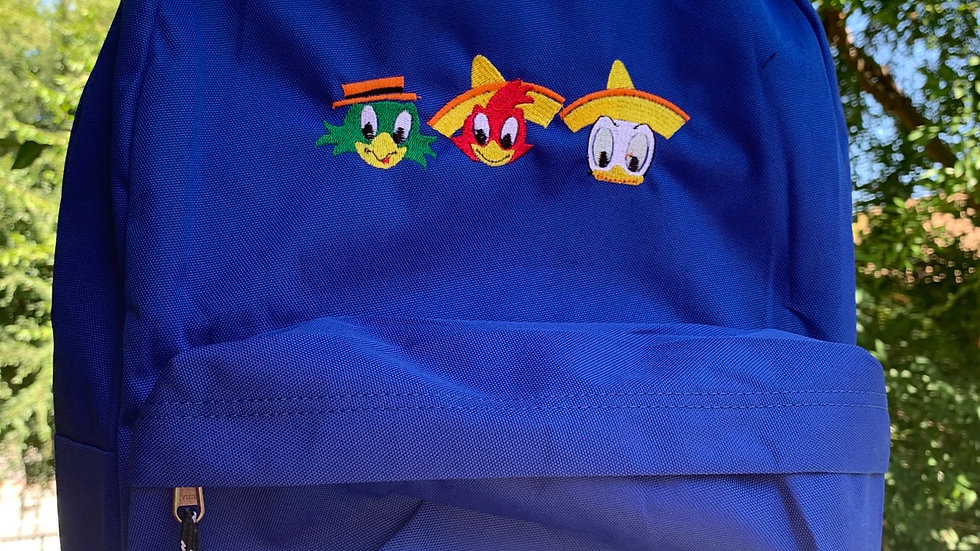 3 Caballeros embroidered backpack