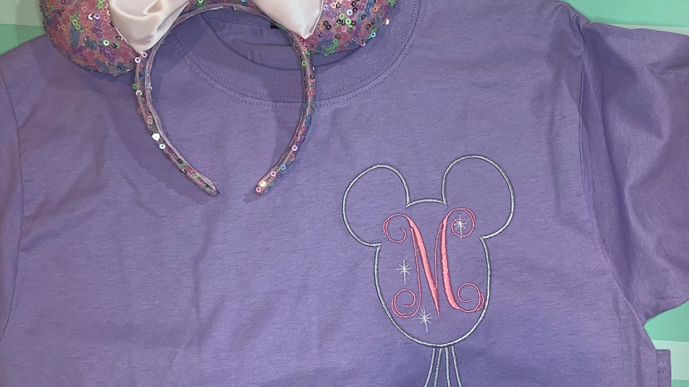 Mickey Mouse Balloon Monogram embroidered t-shirt or tank top