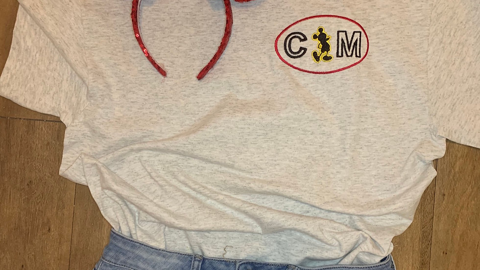 Cast Member Tag embroidered t-shirt or tank