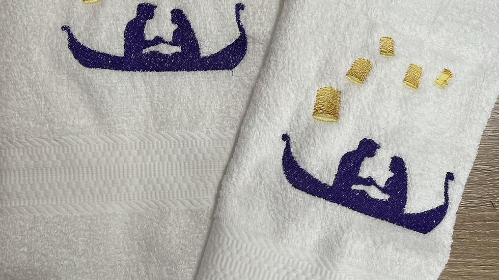 Rapunzel and Flynn with Lanterns towels, makeup bag, tote bag