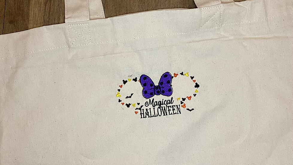Magical Halloween Large Canvas tote