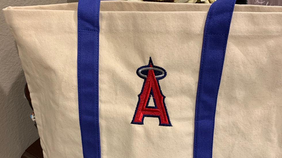 Anaheim angels baseball pocket tote