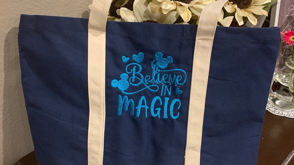 Believe in Magic pocket tote