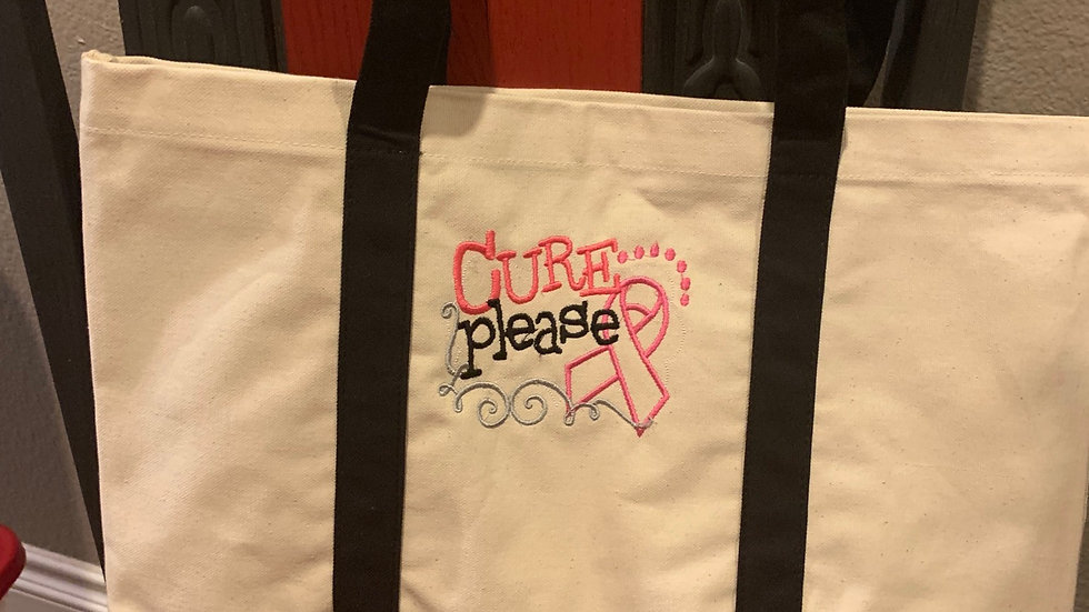 Cure Please pocket tote