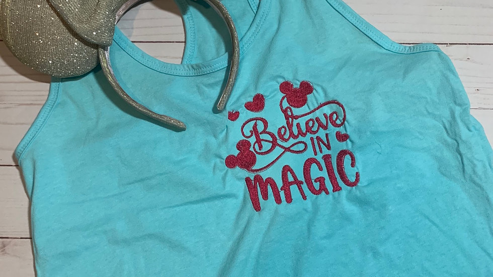 Believe in Magic embroidered T-Shirt or tank top