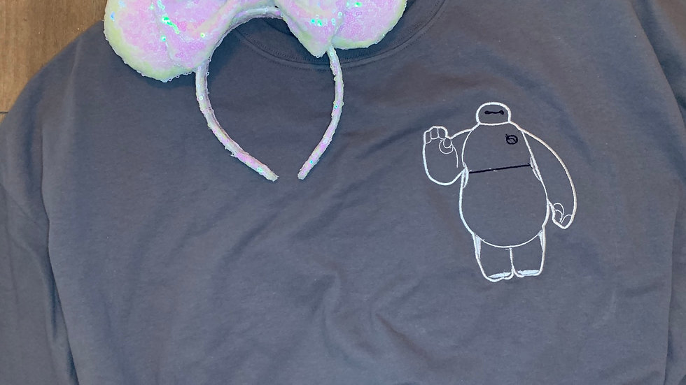 Baymax embroidered t-shirt or tank